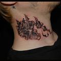 タトゥー 大阪 刺青 刺青画像,ブラック&グレー,髑髏,スカル,タトゥーマシン,ワンポイントタトゥー,