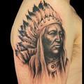 タトゥー 大阪 刺青/インディアン/ワンポイントタトゥー,ブラック&グレー,ポートレイトタトゥー