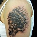 大阪 タトゥー 刺青,女性タトゥー/インディアン/ブラック&グレー/ワンポイントタトゥー,ポートレイトタトゥー