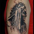 大阪 タトゥー/刺青/ブラック&グレー,インディアン,女性タトゥー画像,ワンポイントタトゥー