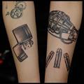 タトゥー 大阪 刺青 女性刺青,ブラック&グレー,ZIPPO,手榴弾_ワンポイントタトゥー/tattoo