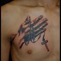 Photos: タトゥー 大阪 刺青 プレイングハンド ロザリオ