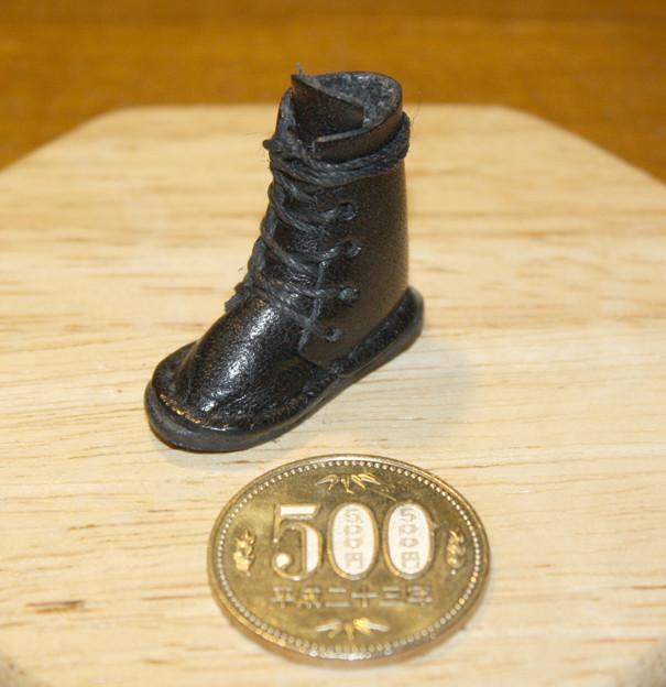写真 レザー・クラフト本日の作品【陸上自衛隊戦闘靴2型】