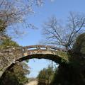 石水寺(せきすいじ)の眼鏡橋と桜