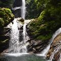 Photos: 暑中お見舞い申し上げます! 大昔,竜が住んでいたという滝壺がある竜ヶ岩(たつがいわ)の滝