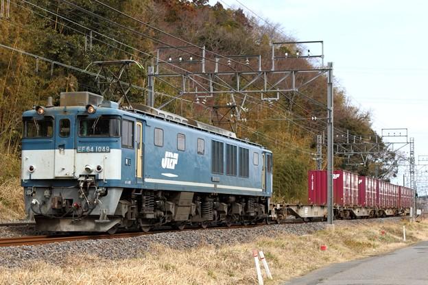 Photos: 72レ EF64 1049+コキ