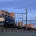 Photos: 工9864レ EF65 1107+チキ