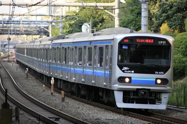Photos: Tele-Tessar T* 4/300mmの作例2(りんかい線70系・目白駅)