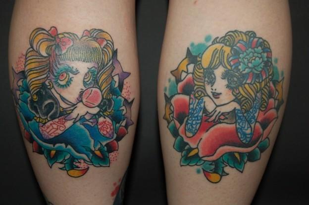 トラッドガールズのタトゥー two trad girls tattoo