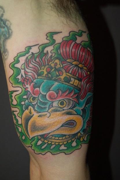 烏天狗のタトゥー japanese traditional monster tattoo