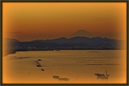 富士夕景。