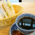 バセットカフェ バセットコーヒー 深煎りオリジナル ハムチーズサンドイッチ