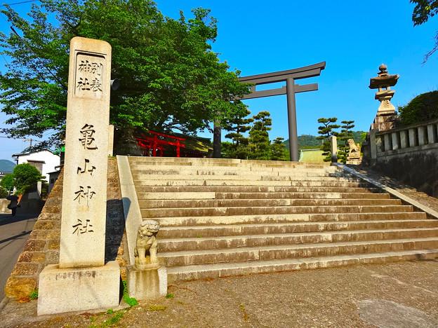 亀山神社 Kameyama Shrine 狛犬 石段 呉市清水