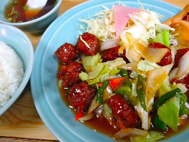 中華料理 八宝飯店 肉団子定食 広島市南区上東雲町
