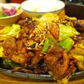 写真: 鉄板焼き ステーキ すき焼き とみや ランチ モーモー鉄板 大盛 広島市中区袋町