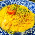 写真: BISTRO309 ビストロ309 フジグラン広島店 フレッシュトマトとぷりぷり海老のカルボナーラ 広島市中区宝町