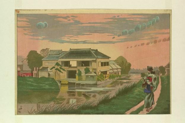 小林清親柳島