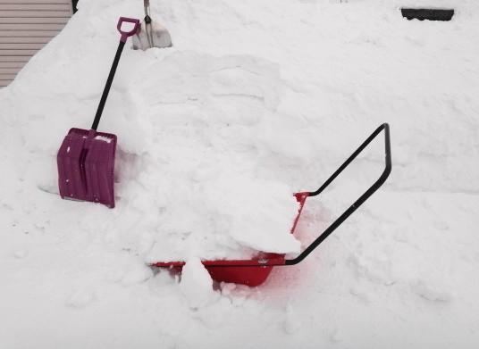 Photos: 除雪