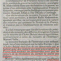 仏内相発言に外務大臣反発