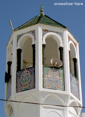 モスクの塔が美しい