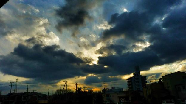 今日の夕方の空