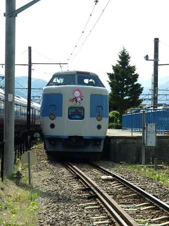 河口湖駅にて(14)
