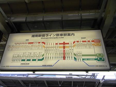 湘南新宿ライン停車駅案内(横浜駅)