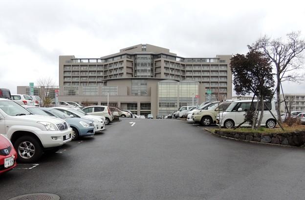 雨の長崎医療センター
