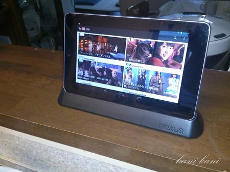 キッチンで、Nexus7+ドッキングステーション