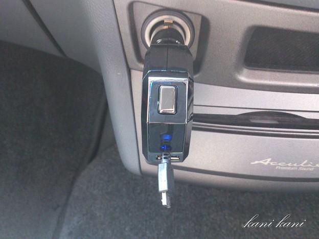 車でスマホ充電