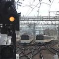 近鉄3220系同時入線西大寺