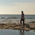 写真: 120802 寺泊の海で 4