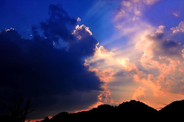 岡山県、後山登山帰りの空 ☆