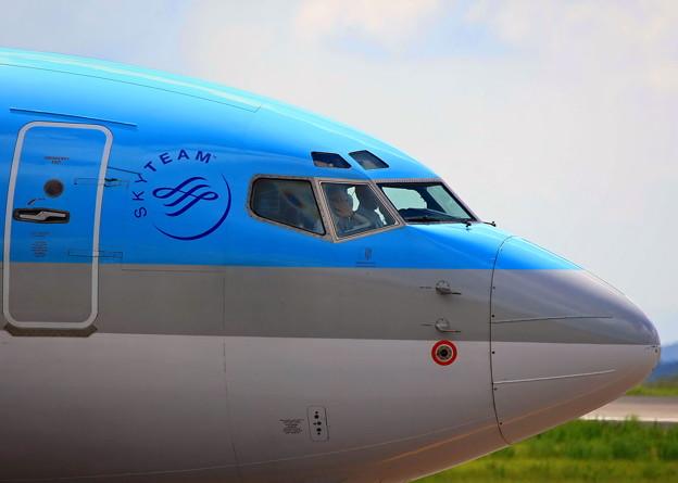 KOREAN機、岡山空港で♪