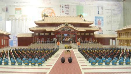 沖縄 首里城模型 朝拝御規式20071115