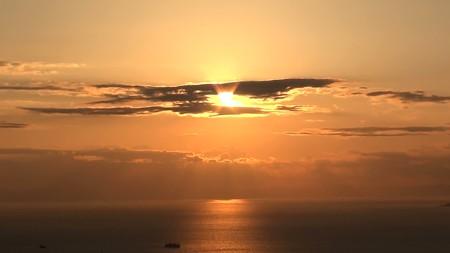 鋸山展望7―夕陽2