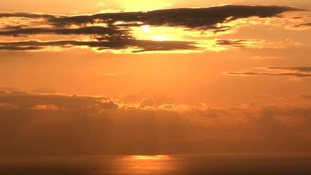 鋸山展望8―夕陽3