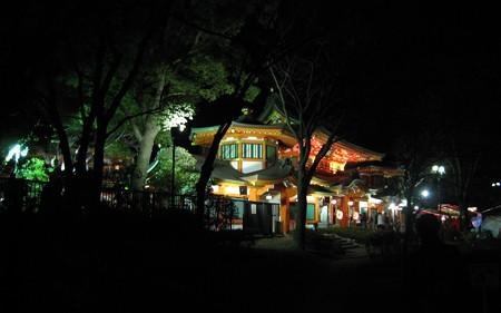 千葉神社 夜2 尊星殿20090101