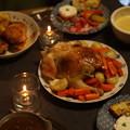 写真: クリスマスの食卓