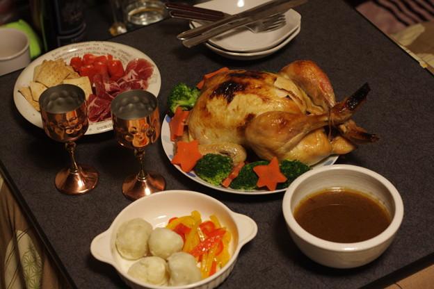 写真: クリスマスの料理
