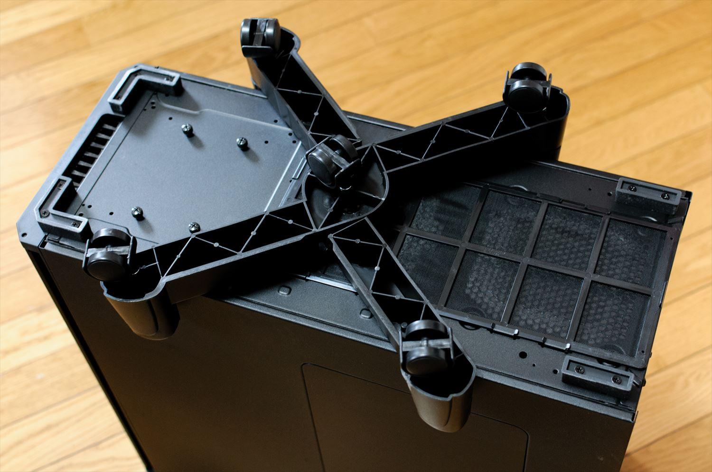 Corsair Obsidian 550DにパソコンケーススタンドCS-7XKを取り付け 005