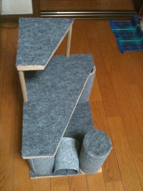 手づくり猫タワー