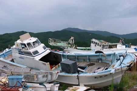 2012.08.13 山田町 大沢漁港 漁船の残骸