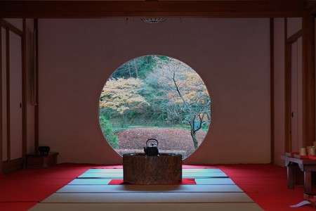 2012.12.13 鎌倉 明月院 方丈の円窓