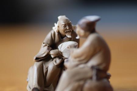 2013.01.23 机 中華街土産 ふむふむ
