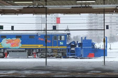 2013.01.25 青森駅 ENR-1000形排雪用モーターカー