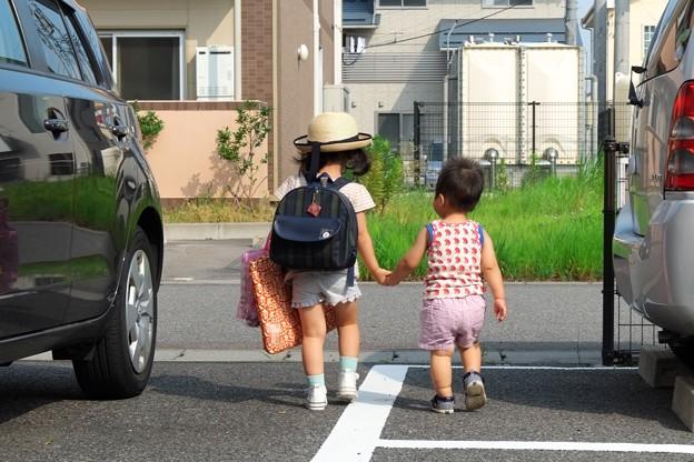 2013.08.07 越後 姫・通園バス待ち
