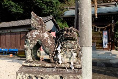 2013.11.04 佐賀 須賀神社 狛犬の中の狛犬