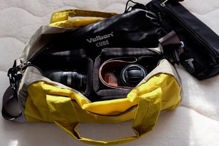 2014.01.16 机 カメラバック L.W.DuffleBag10+KCS-34MABK×3
