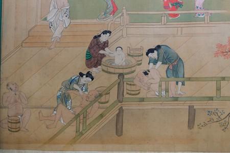 2014.02.07 東京国立博物館 絵巻一場面 江戸時代 湯女